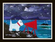 More details for westie ardnamurchan fog horn :  original scottish impressionist oil painting