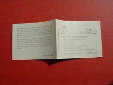Schweden 1963 Markenheftchen Booklet 20 x 508D kompl. postfr ** Michel 20,00