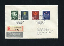 Switzerland 1947 flora CPT set cacheted and addressed FDC.