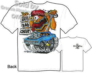 Rat Fink T Shirt 62 Impala Big Bad Chevy 1962 Biscayne Ed Roth Tee M L XL 2XL 3X