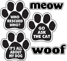CAR MAGNETS - Pet Cat Dog Rescue Lover Locker Refrigerator Mailbox U Choose
