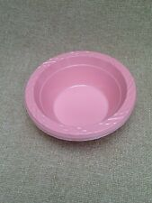 24 x plastic disposible pink  bowl 15cm / 12oz for all occasions