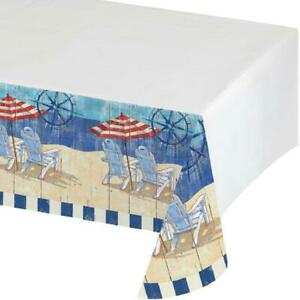 Beach Bums Ocean Tropical Luau Summer Pool Party Decoration Plastic Tablecover