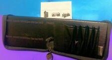 Darac Beauty Solution Central Standing Travel Black Brush Makeup Case Clutch Bag