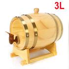 3L Vintage Wood Timber Wine Barrel For Beer Whiskey Rum Port Keg Storage