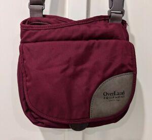 Overland Equipment Ladies Purple Crossbody Bag Nylon Organizer Pockets
