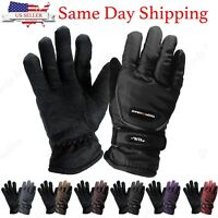 Womens Outdoor Sports Winter Thermal Waterproof Adjustable Ski Snowboard Gloves