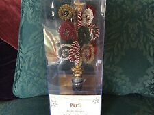 Pier 1 Large Beaded Bottle Stopper 8x3 inches