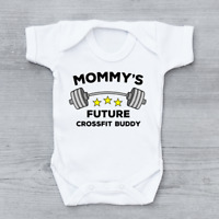 Mummy's Future Crossfit Buddy Gym Unisex Baby Grow Bodysuit