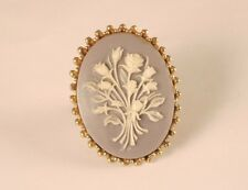 Vintage Western Germany Oval Cameo Ring size 7 adj