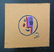 Pablo Picasso Vintage 1970 Mid Century Modern Abstract MCM Signed Fabric Art #2