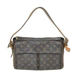 100% Authentic Louis Vuitton Monogram Viva Cite GM M51163 [Used] {08-0341}