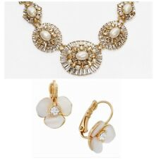 Bridal & Wedding Party Jewelry Charitable Exquisite Kate Spade Window Seat Statement Necklace Earrings Set Bridal Pearl