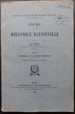 Cours de Mécanique Rationnelle par Jean Chazy, Tome I, 4e édition - 1952