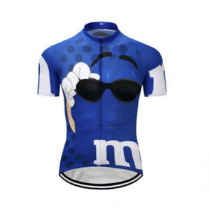 Men Cycling Jerseys Team Bicycle Team Clothing Short Sleeve Road Bike Shirt H12