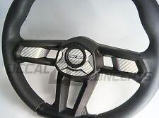 Can-Am Maverick X3 Silver Carbon Fiber Steering Wheel Dress Up DecaI Inlay Kit