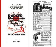 Badger Shooters Supply 1947 Gun Catalog (Owen, WI)
