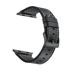CINORS Apple Watch Band, 42mm iWatch Strap, Genuine Leather Replacement W...