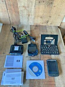 HP iPAQ HX2410 PDA Pocket PC 3600mah battery hp charging dock hp keyboard bundle