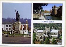 Winchester: 3 Mini views  : King Alfred's Statue: River Itchen : The Cathedral