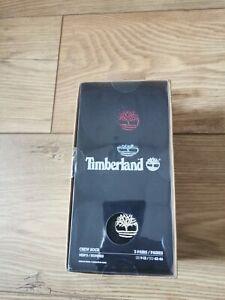 Timberland Three pair crew socks gift box for men in black Uk 8-11 Eu 42-46