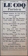 Jean Cocteau (Artist) and Erik Satie (Composer): Le Coq, Issue 4