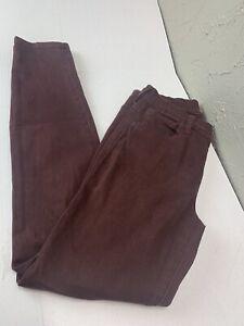 Madewell High Riser Skinny Jeans Size 27 Womens Stretch Maroon Burgundy