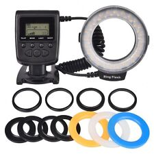 Macro Ring Flash RF-550D 48-LED Light for Canon Nikon Sigma Lens with Big LCD