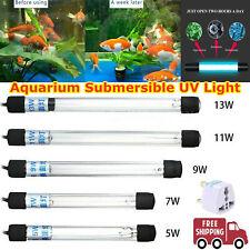 5/7/9/11/13W SUBMERSIBLE AQUARIUM FISH TANK POND UV STERILIZER WATER LIGHT LAMP