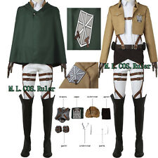 Anime Shingeki no Kyojin Attack on Titan Cosplay Costume Training Corps Cosplay