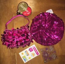 Claire's Little Girls 4 5 6 7 Sequin Pink Hat Purse Justice Sticker Lot