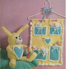 Chubby Bunny & Baby Hang-Up crochet PATTERN INSTRUCTIONS