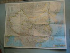CHINA WALL MAP + INFORMATION & HISTORY National Geographic July 1991 MINT