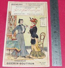 RARE CHROMO GUERIN-BOUTRON 1900-1905 GRAPHOLOGIE