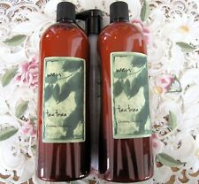 ~WEN by Chaz Dean~TEA TREE CLEANSING CONDITIONER~Super-sized 32 oz X 2=1/2 GAL