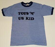 Toys R Us Kid VTG 80s Hanes Blue Ringer T Shirt Mens M USA Made