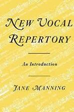 New Vocal Repertory An Introduction by Jane Manning (Hardback, 1986)