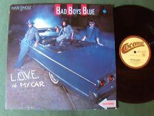 """BAD BOYS BLUE : L.O.V.E. in my car 12"""" MAXI 45T HI ENERGY German COCONUT 601477"""