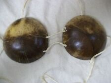 Adult Genuine Coconut Shell Bra Bikini Top Hawaiian Luau HulaGirl Tropical Beach