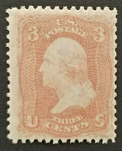 US Stamp, Scott #65, 3c Washington, Mint Never Hinged, Fine, Cat Val $72.50