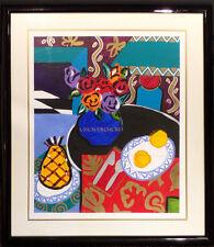 """The Fork Fell on the Floor"" Original Painting on Paper framed decorative art"