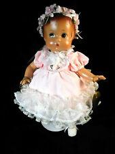 Effanbee Patsy Doll Pink Frilly Dress Durable Doll Bracelet Headband