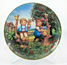 """New listing Hummel Little Companions Danbury Mint Collector Plate """"Apple Tree Boy and Girl"""""""