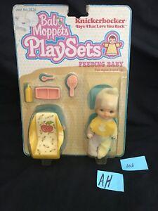 Vintage 1981 Baby Moppets Secret Nursery Knickerbocker Baby Doll Feeding Set