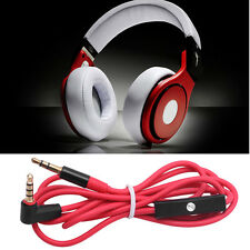 Replacement RED 3.5mm L Jack Audio AUX Cable Cord Wire Lead for Beats by Dr Dre