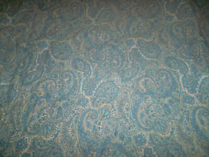 Ralph Lauren Twin Fitted Sheet Floral Paisley Blue Yellow Green 100% Cotton