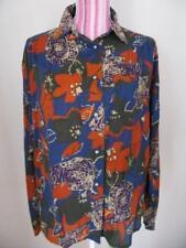 Genuine Vintage Shirt 14-16 1970's long sleeve collared boho retro