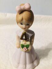 Birthday Girl Golden Blonde Age 4 Enesco Growing Girls Figurine No Box
