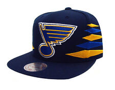St. Louis Blues Snapback Mitchell & Ness Solid Diamond Cap Hat Navy