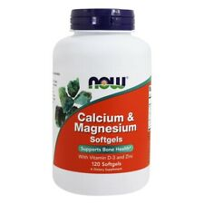 NOW Foods Calcium-Magnesium with Vitamin D and Zinc, 120 Softgels